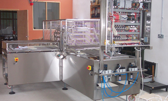 Semi automatic 90 degree tray portioning machine